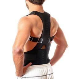 Wholesale Belt Posture - 1 Pc Lot Fantastic New Men Women Magnetic Posture Support Corrector Back Belt Band Pain Feel Young Belt Bracer Shoulder For Sports Safety