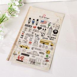 Wholesale Korean Diary Stickers - Wholesale- 1 Sheet Korean Sonia DIY Diary Planner Decorative Sticker USA Newyork Series 19x10cm