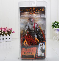 Wholesale Kratos God War Toy - 2017 7 inch GOD of WAR Kratos Flame version Action Figures christmas gift toys gift