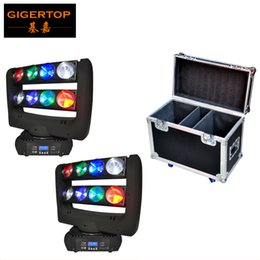 Wholesale 37 Led - Freeshipping 2in1 Flightcase Pack 8x10W Led Moving Head Spider Light Cree Leds RGBW 4IN1 Color Double Row 11 37 Channels