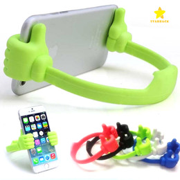Wholesale Pink Thumbs - Thumb Phone Holder Universal Stand Holder Phone Clip Desktop Holder Tablet for iphone 4 5 6 Plus Samsung