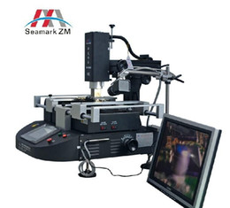 Wholesale Infrared Reworking Stations - russian free taxes ZhuoMao ZM-R5860C Three Temperature Zones Infrared & Hot air BGA Rework Station with CCD camera and monitor