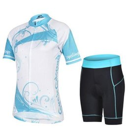 Wholesale Women Bike Suit - HOT Ladies Cheji Women Compression Short Team2017 Hot Sale Short Cycling Suit Men Mountain Bike Clothing Blue and White