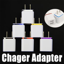 Wholesale Dual Tablets - Dual USB Wall Chargers Power Adapter US Plug 2.1A AC 2 Port for Tablet Samsung LG iPhone Metal Universal Charger Adapter