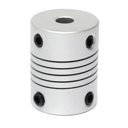 Wholesale flexible motor couplings - Nudge 3D Printer 5x8mm Motor Jaw Shaft Coupler 5mm To 8mm Flexible Coupling OD 19x25mm Router Connector