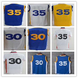 Wholesale Cheap Men S Gold - Wholesale 35 Kevin Durant 30 Stephen Curry Jerseys Blue White Yellow Black 2017 Cheap Uniform Chinese Throwback Christmas Good Quality