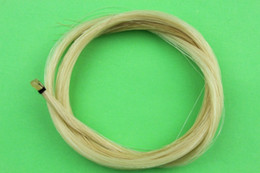 Wholesale Horse Hair Bow - Wholesale- 4 hanks Horse Hair Violin Bow hair .[2 hanks white+2 hanks black]