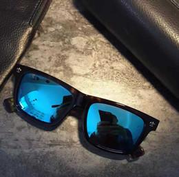Wholesale finish cat - 2017 Chrome Tortoise Blue Lens Finish Squear Polarized Sunglasses - unisex Brand New with Box