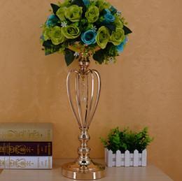 вазы для стола Скидка Позолоченная Железная корона ВАЗа, свадебный реквизит, главный стол украшения продукты быстрая доставка бесплатная доставка WQ16