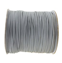 Wholesale Rolls Silver Wire - 200yds roll+0.5mm Silver Grey Korea Polyester Wax Cord Waxed Thread DIY Jewelry Shoes Bracelet Necklace Wire String Accessories