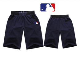 Wholesale Free Mlb - H558# Free shipping SIZE M-4XL 2017 New mLB short Mens clothing Elastic waist pants colorful letter style