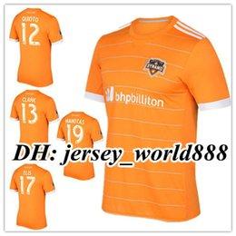 Wholesale Houston Shirts - Top Thai quality 17 18 Houston Dynamos home Orange soccer jersey 2017 2018 ELIS MANOTAS CLARK QUIOTO away football shirts