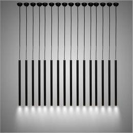 Wholesale Tom Dixon Wholesale - Modern Black LED pendant lights Pipe pendant lighting Creative Aluminum hanging light restaurant lights bar office engineering lighting