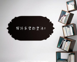 Wholesale Modern Mark - Chalkboard wall stickers noting informations PVC blackboard wall Stickers daily mark