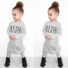 Wholesale Long Sleeved Jumpsuits - 2017 NEW baby girl cotton clothes cute bodysuit Lily printe baby children children long sleeved Jumpsuit letters climb clothes 3PIECE LOT