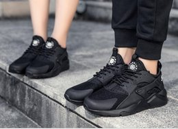 Wholesale Toe Paragraph - 2017 new Huarache 4 generation men and women with the same paragraph shoes, casual shoes 36-44