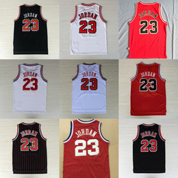Wholesale Cheap Top Shirts - Mens Mesh #23 Retro Basketball Throwback Jerseys Cheap All Star Breathable Sports Jersey#23 Michael 1997-98 Top Quality new arrival Shirts
