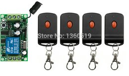 Wholesale Learning Code Wireless - Wholesale- Learning code DC 12V 1CH Wireless Remote Control Switch System Receiver & one-button waterproof Remote lamp  window Garage Doors