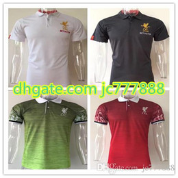Wholesale Quick Drying Polo - Top Thai quality 2017 2018 liverpools Soccer polo shirt 17 18 LALLANA LUCAS COUTINHO FIRMINO STURRIDGE MANE liverpools foobtall polo Shirt