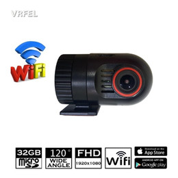 Wholesale Memory Card Wifi - mini WiFi Car DVR 1080P FHD Night Vision Dash Cam Recorder Rotatable Lens Car Camera Wireless Snapshot Auto Camcorder