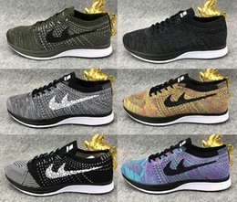 Wholesale Childrens Kids Shoes - High Quality 2017 New Flywire Knit Racer Young Childrens Running Shoes Free Run Kids Athletic Shoes Girls Boys Sneakers