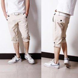 Wholesale Youth Pants Wholesale - Wholesale-2016 Limited Bermuda Masculina Short The New Spring And Summer Men's Korean Pants Loose Baggy Youth Casual Stylish Trousersno