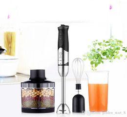 Wholesale Baby Cook Machine - 220V Handhled Blender Multifunction Baby Food Mixer Juice  Milk Shake Rice Paste Egg Beater 8 Gear Speed Cooking stick