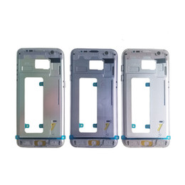 Wholesale Galaxy Flip Metal - For Samsung Galaxy S7 Middle Frame G930 G935F G935V S7 edge Bezel Metal Frame Middle Housing Chassis For SAMSUNG S7 G930 Replacement Parts