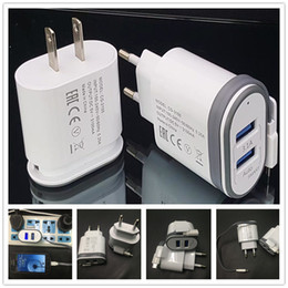 Wholesale Apple Power Lead - Newest 3.1A Power Adapter with cable n LED light 2USB portable Charger for Samsung S8 S7 iphone7 quick charging eu us plug home Charger
