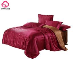 Wholesale king size luxury comforter sets - Wholesale-4pcs Bedding Set Silk Cotton King Queen Twin size Duvet Quilt Bedlinen Covers Bedclothes Luxury Bedsheet Comforter Bedding Sets