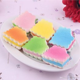 Wholesale Craft Phone - Random 1PC Dollhouse Miniature Food Candy Color Soft Biscuits Squishy Cute Cell Phone Charm Key Straps Decorative Craft