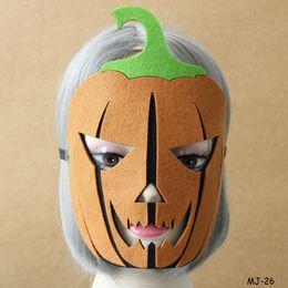 Wholesale Halloween Pumkin - Halloween Masquerade Mask Pumkin Full Face Masks Cosplay Fancy Dress Headgear Mask Ladies Women Men Face Xmas Party Decor