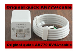Wholesale Usb 5v 4a - Original Newest AK779 5V 4A USB Quick Charger + Fast charging Micro USB Cable for Oppo R7 R7T R7 PLUS R9 R9 PLUS Find 7 N3 U3