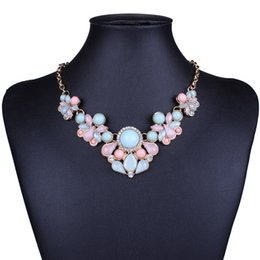 Wholesale Trend For Chain Jewelry - New 2017 Hot Pendant Necklace Women Jewelry Trends Link Chain Statement Necklaces Water Drop Colar Pendants For Gift Party