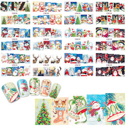 Wholesale Fantasy Decals - Wholesale- STZ 1pcs Water Decal Nail Art Decals Christmas Designs Watermark Beauty Transfer Colorful Fantasy Manicure Sticker Tip BN229-240