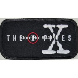 """Wholesale Christmas Files - 4"""" THE X FILES PATCH Movie TV Series Costume Cosplay Halloween Embroidered Emblem applique iron on patch christmas x'mas"""