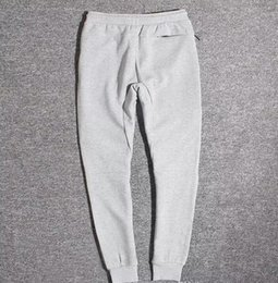 Wholesale Bottoming Pencil Pants - Wholesale Tech Fleece Sport Pants Space Cotton Trousers Men Tracksuit Bottoms Man Jogger Tech Fleece Camo Running pant 2 Colors