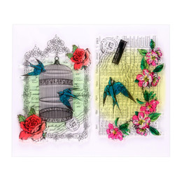 Wholesale Stamps Albums - Wholesale- Birdcage Calendar Clear Silicone Rubber Stamp for DIY Scrapbooking photo Album Decorative Craft Clear Stamp Chapter.