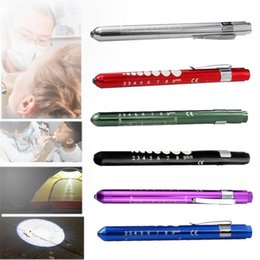 Wholesale Pc First - 5 pcs lot Pen Flashlight Torch Doctor Nurse EMT Emergency Medical First Aid Penlight Pen Light Torch Light