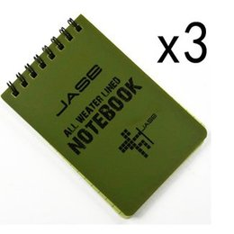 Wholesale Trend Notes Wholesale - Wholesale- Set of 3 Green Waterproof All Weather Shower Aqua Notes Notepad Notebook