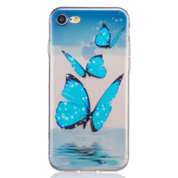 Wholesale Silicone Butterfly Iphone Cases - Flower Pineapple Printing Butterfly Dreamcatcher Soft TPU Silicone Case Dandelion Eiffel Tower Skin For iphone7 iphone 7 plus Samsung J310