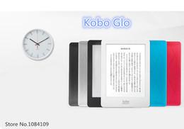 Wholesale Ebook Ereader - Wholesale- Original Kobo Glo Ebook Reader E-reader Black Gray Red Blue E-ink 6 inch 1024x768 WIFI touch screen Built in Light 2GB eReader