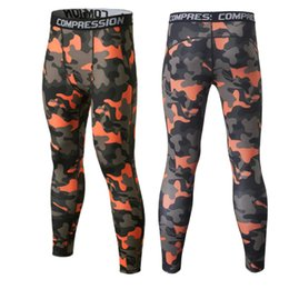 Wholesale Trouser Pants Boys - Wholesale-Quick Dry Camo Kids Compression Pants Boys Running Fitness Pants Kids Skins Compression Tights Football Running Legging Trousers