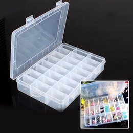 Wholesale Orange Ring Box - Hot Sale New Practical Adjustable Plastic 24 Compartment Storage Box Case Bead Rings Jewelry Display Organizer