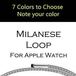 Wholesale Bracelet Boxes Purple - Luxury Milanese Loop strap Link Bracelet Stainless Steel Band Adjustable for Apple iwatch 38 42mm men women Watchband with retail box