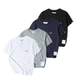 Wholesale Classical Men S Shirts - Neighborhood Summer Fashion Brand Clothing High Quality Harajuku Solid Leisure Men NBHD Classical Casual T-shirt