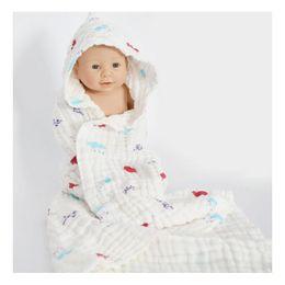 Wholesale Boy Animal Print Baby Blanket - Nine Layers Baby Cotton Blanket Toddler Bathing Towel Deer Crown Toddler Fabric Towel For Kid Girl Boy Home Decor