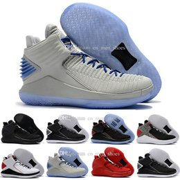 Wholesale Cheap Beach Shoes - 2018 Cheap New Retro 32 Win Like XXX2 XXXII Beach Men Basketball Shoes Real leather Wholesale Men Retros 32s Sports Sneakers Trainers 40-46