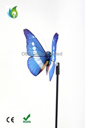 Wholesale Garden Solar Light Butterfly - Outdoor Colorful Solar Powered Butterfly Fiber Garden Light Decoration for Lawn Solar Butterfly Stake Lamps with CE ROHS Certification