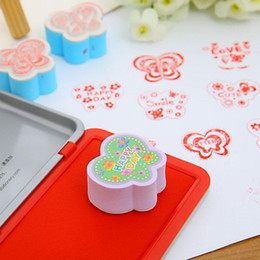 Wholesale Butterfly Stamp Set - 2 pcs set butterfly rubber stamp for Kids DIY Handmade Scrapbook Photo Album Stamps Arts,Crafts Children's toys gifts